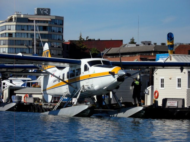 Float planes are an essential mode of transport between mainland Vancouver and Vancouver Island and the tinier Gulf Islands.